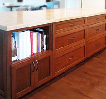 Custom Made Custom Kitchen Cabinetry W/ Walnut Island
