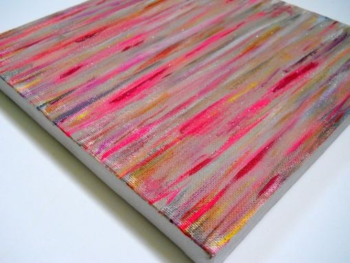 Custom Made Nude Pink Glitter Abstract Painting