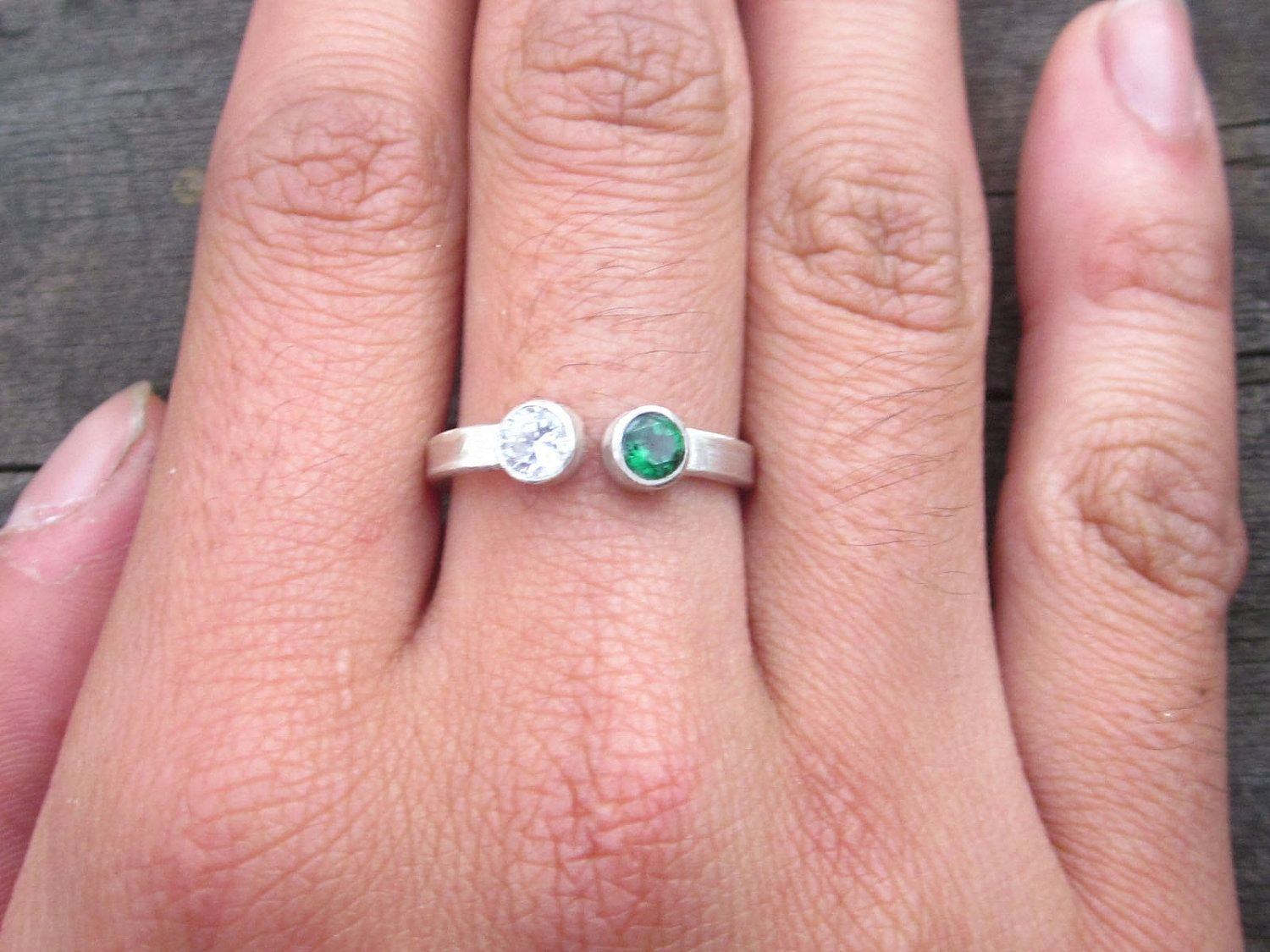 Custom Made Ring With Double Gemstone by donnaodesigns | CustomMade.com