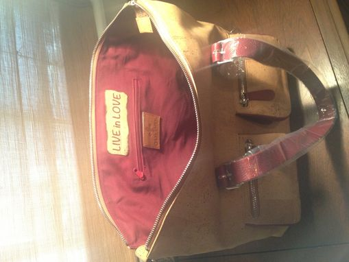 Custom Made A Red Leather Women's Briefcase