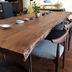 Live Edge Dining Room Table. Live Edge Wooded Table Dining Tables  CustomMade com