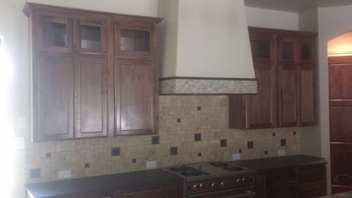 Custom Made Flat Panel Walnut Kitchen
