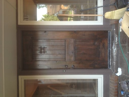 Custom Made Knotty Alder Front Door