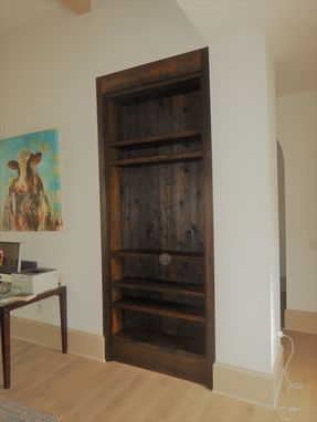 Custom Made Classy Rustic Alcove Shelf Unit