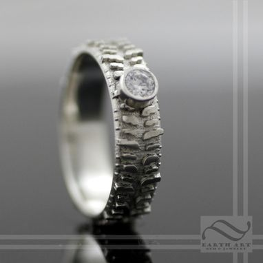 Custom Made Ladies 14k And Diamond Super Swamper Tire Ring