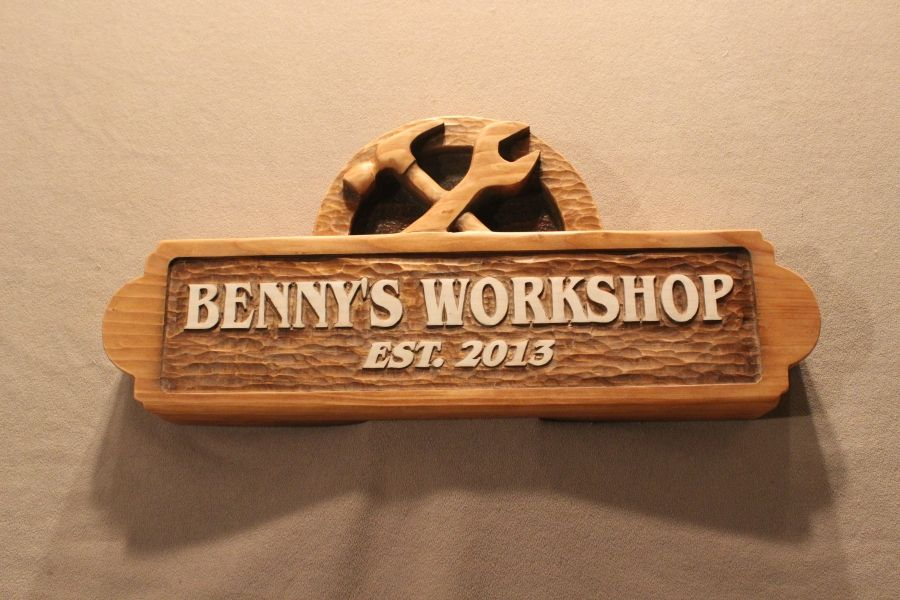 Hand Made Carved Wooden Signs Custom Wood Signs Shop Signs
