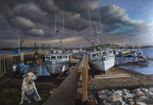 Custom Made Painting: Guardian Of The Fleet, By Roy Mandell
