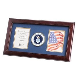 Custom Made U.S. Air Force Medallion Double Picture Frame