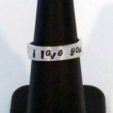 Custom Made Sterling Silver Whimsical Hand Stamped With