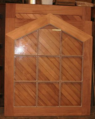 Custom Made African Mahogany Barn Doors