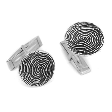 Custom Made Fingerprint Cuff Links