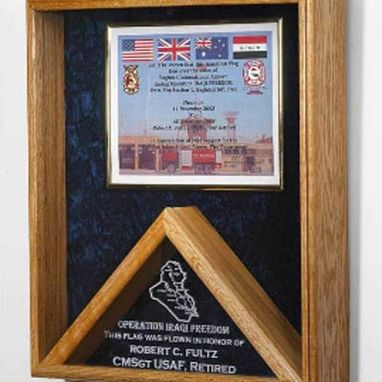 Custom Made Military Certificates And Flag Frames - Combo Flag Case