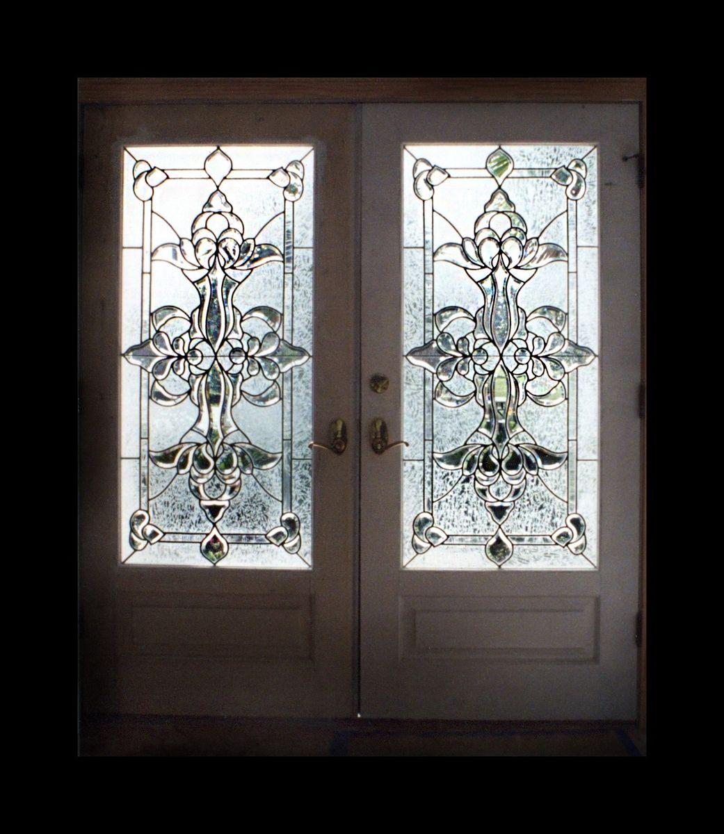 Hand Made Leaded Beveled Glass Doors By Alemanda Artworks