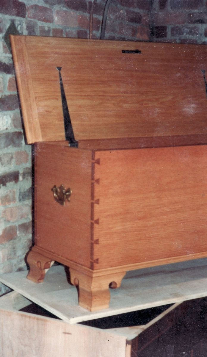 Hand Crafted Dovetailed Pine Blanket Chest By Gene Lyman Cabinetmaker Country Cupboards Custommade Com
