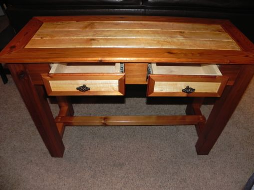 Custom Made Western Cedar Sofa Table