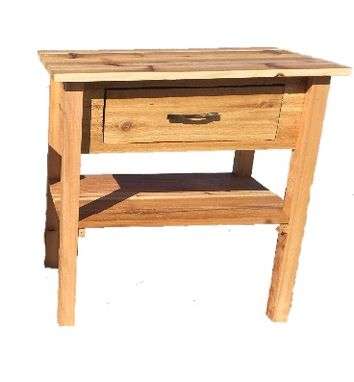 Custom Made Rustic Distressed Bedroom End Tables