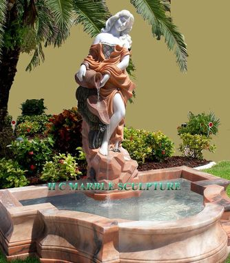 Custom Made Maiden W/ Jug Fountain