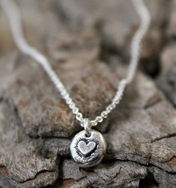 Custom Made Fine Silver - Ity Bity Heart