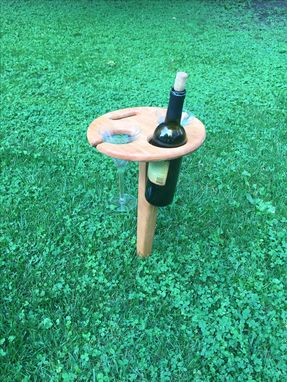 Custom Made Quality Woods Outdoor Mobile Wine Caddy