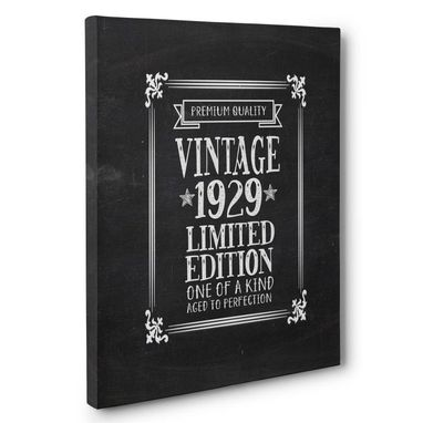 Custom Made Aged To Perfection 90 Years Old Vintage 1929 Canvas Wall Art