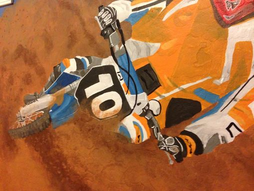 Custom Made Dirtbike Room Mural
