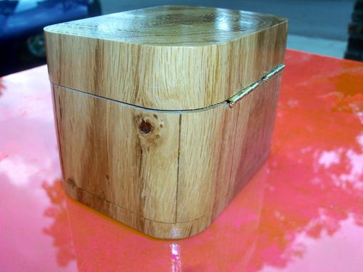 Custom Made Repurposed White Oak Box With Rounded Corners