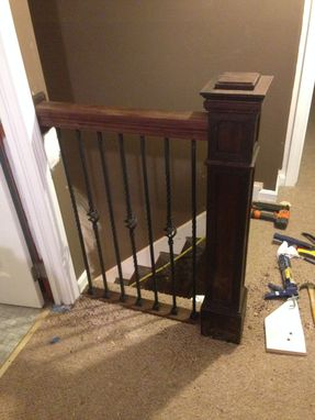Custom Made Peruvian Walnut Newel Post And Railing Kit
