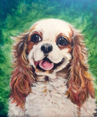 Custom Made Cavalier King Charles Spaniel Pet Portrait Painting