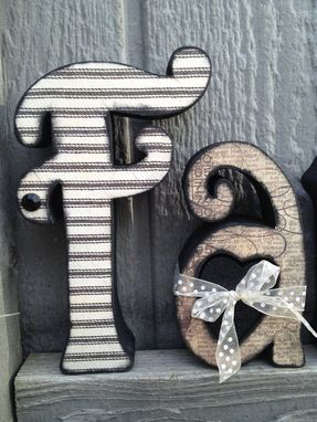 "Custom Made Custom Wood Letter Set ""Family"""