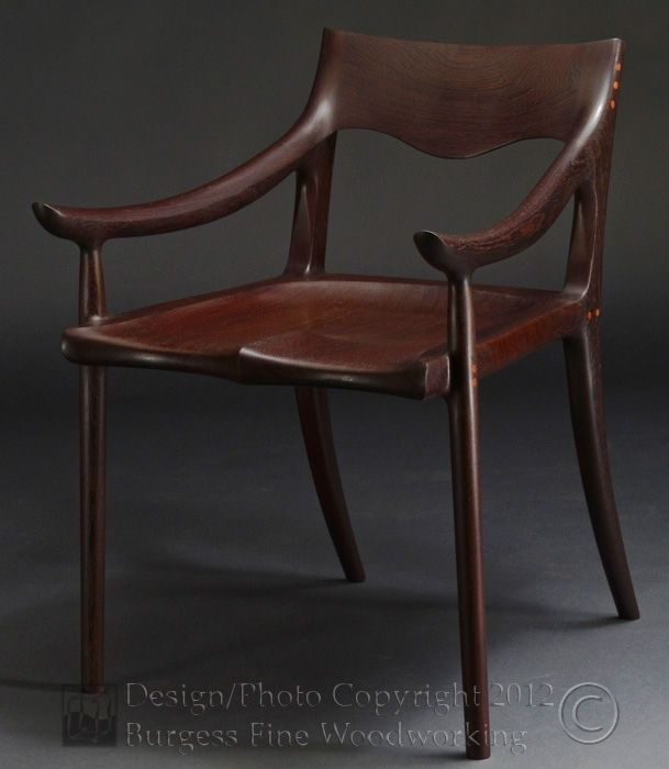 Custom Made Maloof Low Back Dining Chair In Wenge By