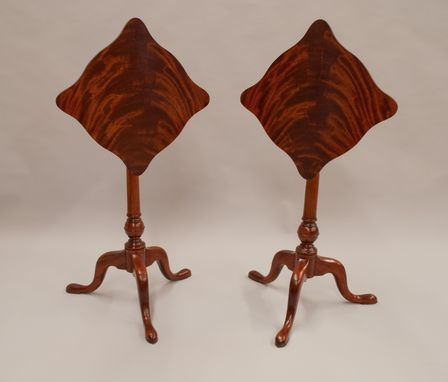 Custom Made Pair Of Tilt-Top Tables