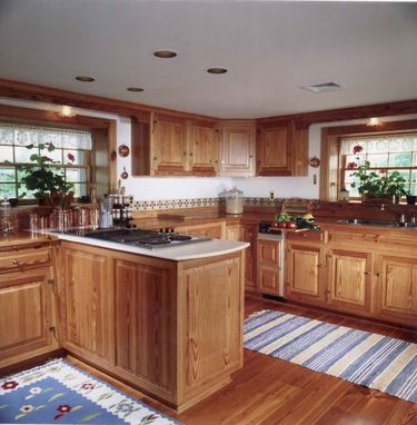 Custom Made Old Heart Pine Kitchen