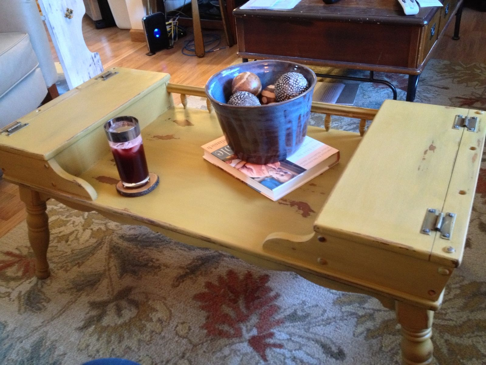Hand Made Vintage Ethan Allen Coffee Table Early American Solid
