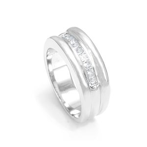 Custom Made Princess Cut Diamond Men's Ring