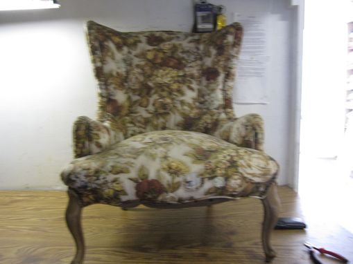 Custom Made Reupholstered Wingback Chair