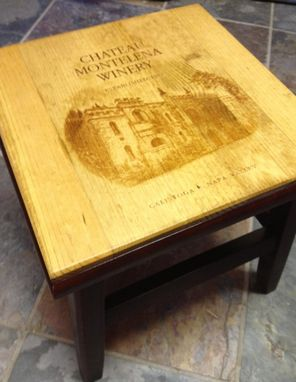 Custom Made Chateau Montelena Stepping Stool