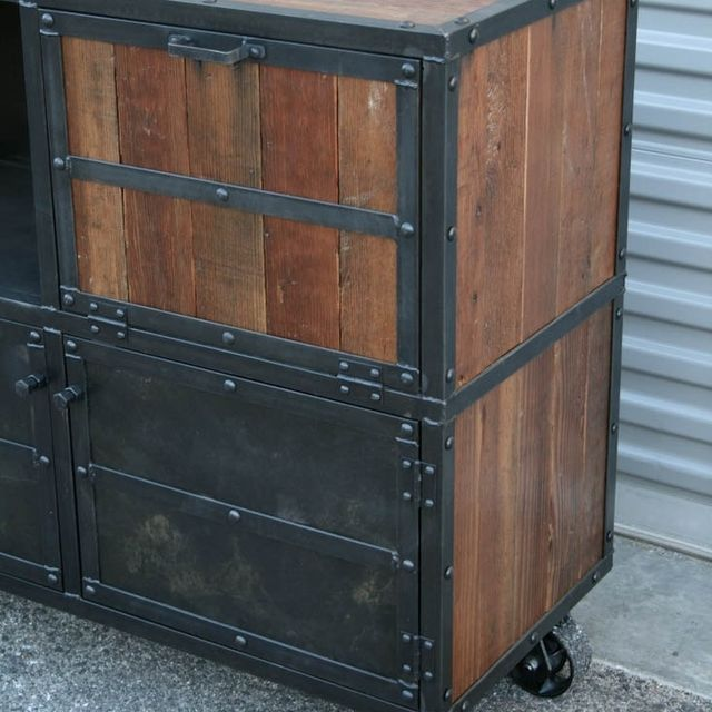 Buy a Custom Made Bar Cart/Liquor Cabinet. Vintage Industrial. Urban/Modern  Design. Reclaimed Wood. Rustic. Distressed, made to order from Combine 9 ... - Buy A Custom Made Bar Cart/Liquor Cabinet. Vintage Industrial. Urban