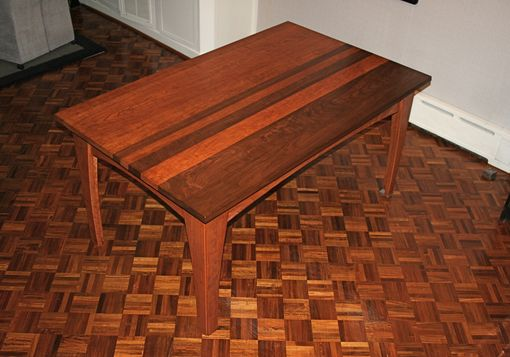 Custom Made Cherry And Walnut Dining Table