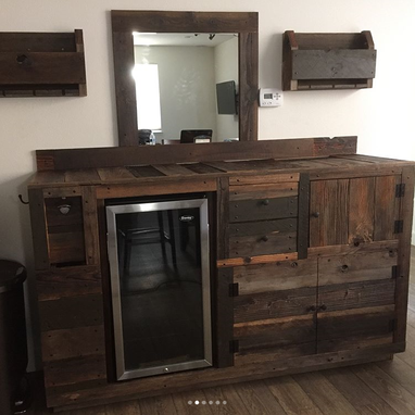 Custom Made Reclaimed Wood Bar