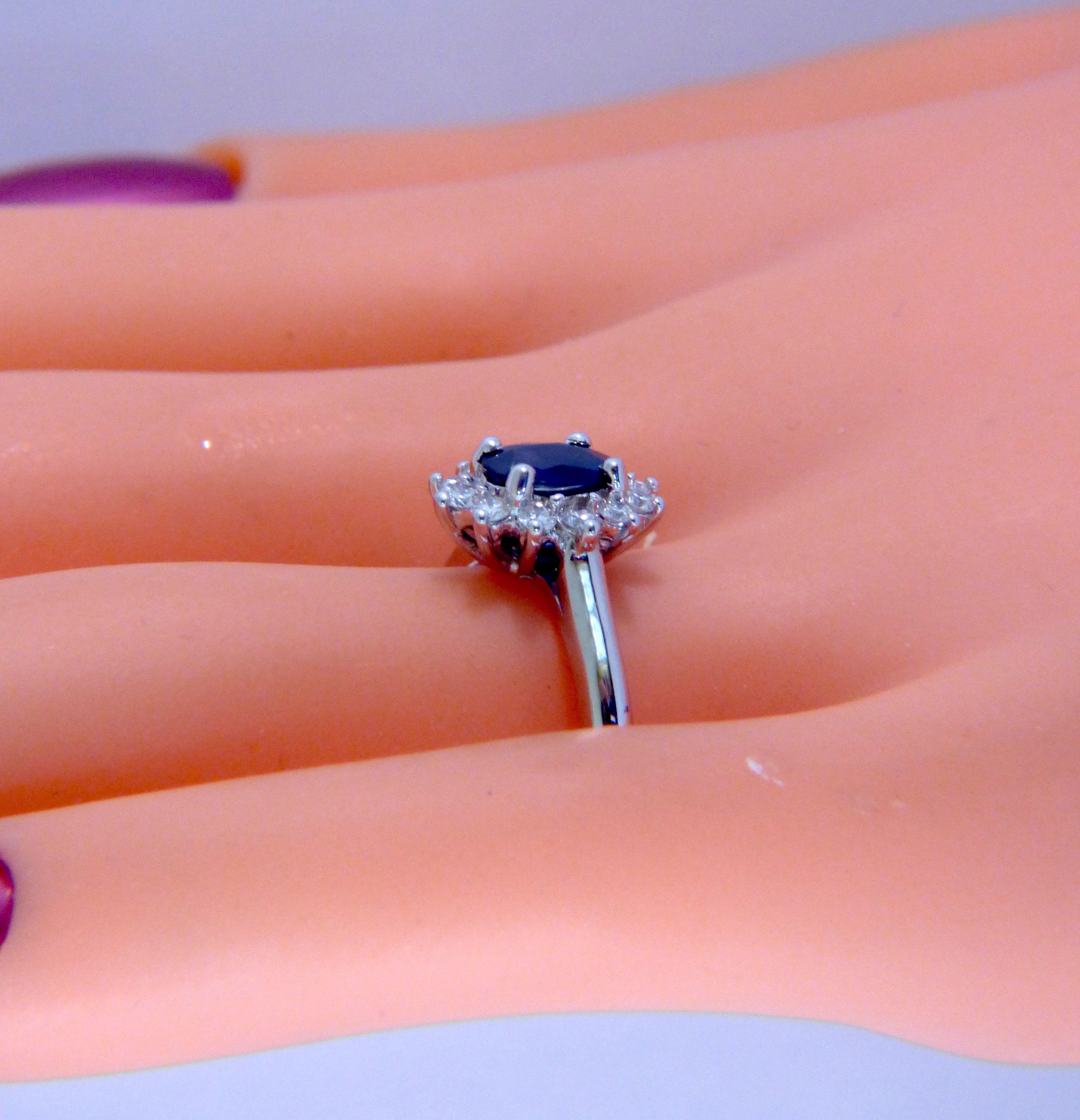 Buy a Custom Made Princess Diana Natural Oval Blue Sapphire And ...