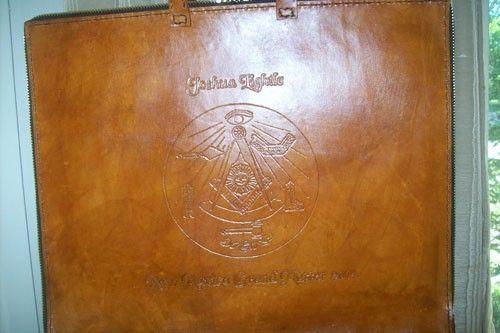 Custom Leather Masonic Apron Case