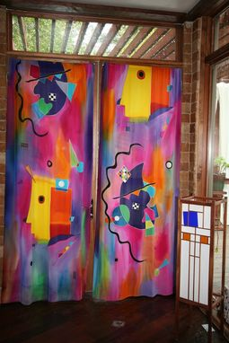 Custom Made Hand Painted Silk Curtains