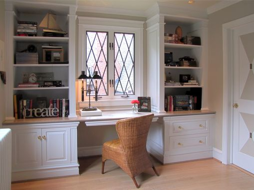 Custom Made Painted Library Bookcases