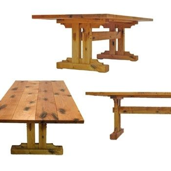 Custom Made Trestle Table