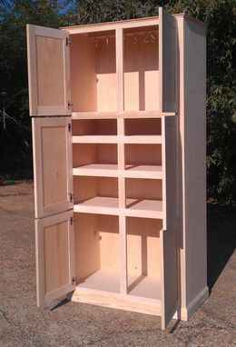 Custom Made Freestanding Pantry Cabinet