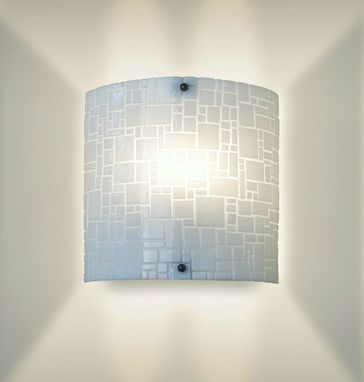 Custom Made Midcentury Modern Glass Wall Sconce-