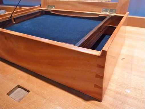 Custom Made Horned Mahogany Keepsake Box