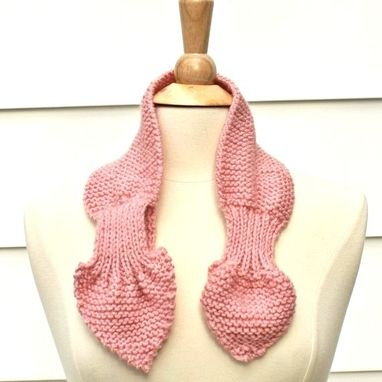 Custom Made Pink Knit Scarf Keyhole Scarf Winter Scarf Winter Accessories