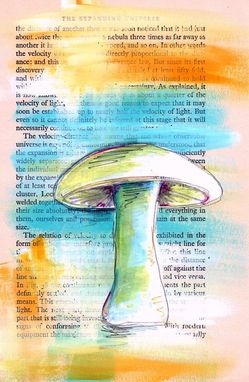 Custom Made Pick Your Style - Mushroom Custom Color And Paper Personalized Drawing