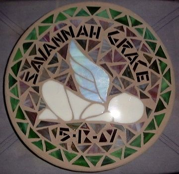 Custom Made Angel Baby Memorial Stepping Stone